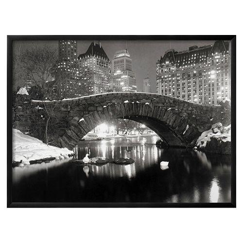 Art.com ''New York Pond in Winter'' Framed Wall Art