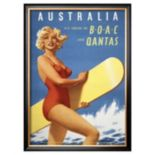 Art.com ''Fly to Australia'' Framed Wall Art