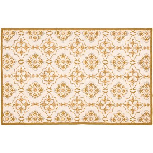 """Safavieh Chelsea Stanton Floral Hand Hooked Wool Rug – 2'6"""" x 6′"""