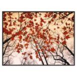 Art.com ''Red Maple and Autumn Sky'' Framed Wall Art