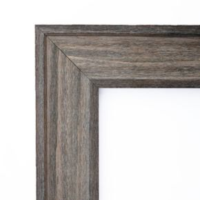 Country Distressed Barnwood Beveled Wall Mirror