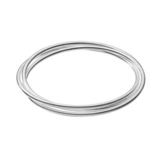 Sterling Silver Interlock Bangle Bracelet