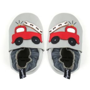 Tommy Tickle Baby Boy Fire Truck Crib Shoes