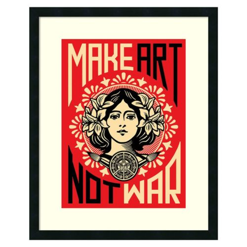 ''Make Art Not War'' Framed Wall Art