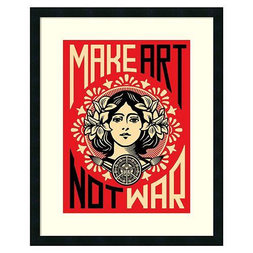 ''Make Art Not War'' Framed Wall Art