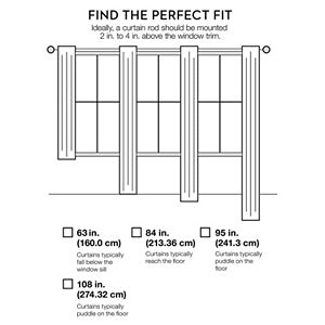 Window Curtainworks 1-Panel Kendall Lined Window Curtain