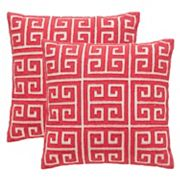 Safavieh Chy 2 pc Throw Pillow Set