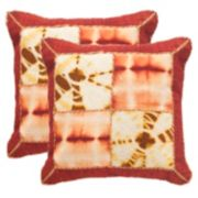 Safavieh Dip-Dye Quarter Patch 2-pc. Throw Pillow Set