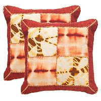 Safavieh Dip-Dye Quarter Patch 2 pc Throw Pillow Set