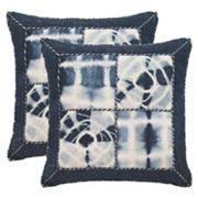Safavieh Dip-Dye Quarter Patch 2 pc Throw Pillow Set