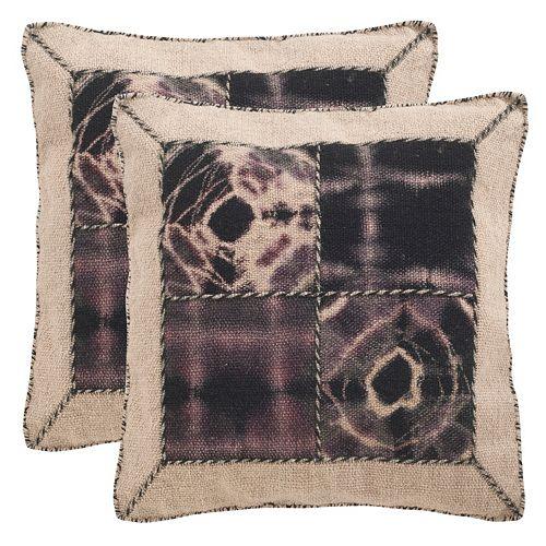 Safavieh Dip-Dye Quarter Patch 2-pc. Throw Pillow Set