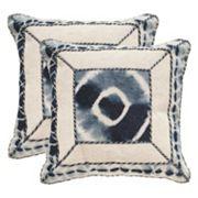 Safavieh Dip-Dye Patch 2 pc Throw Pillow Set