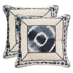 Safavieh Dip-Dye Patch 2-pc. Throw Pillow Set