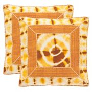 Safavieh Dip-Dye Patch 2 pc Throw Pillow Set