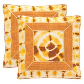 Safavieh Dip-Dye Patch 2-pc. Throw Pillow Set