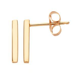 Itsy Bitsy 10k Gold Bar Stud Earrings
