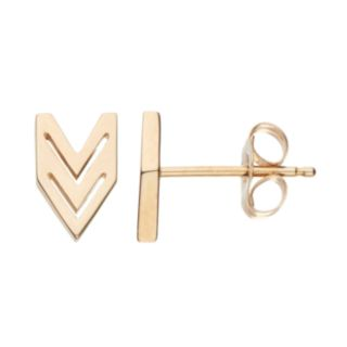 Itsy Bitsy 10k Gold Chevron Stud Earrings