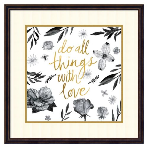 ''Live Beautifully - Do all Things with Love'' Framed Wall Art