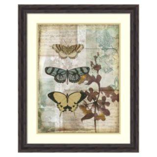 ''Music Box Butterflies I'' Framed Wall Art