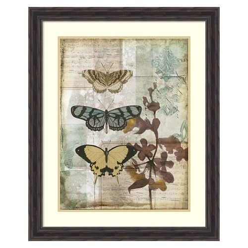 ''Music Box Butterflies I'' Framed Wall Art