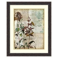 ''Music Box Floral I'' Framed Wall Art