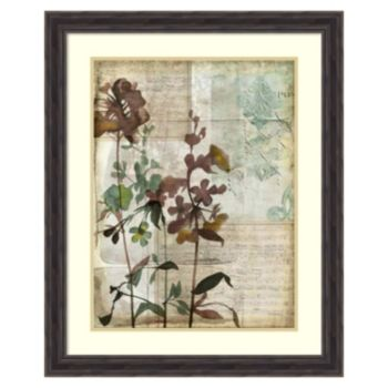 ''Music Box Floral I'' Framed Wall Art