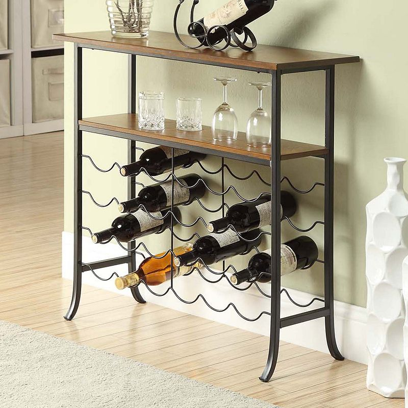 Carolina Forge Ellington Wine Console, Brown