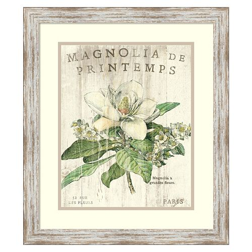 ''Magnolia de Printemps'' Framed Wall Art