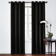 eclipse Thermaweave Blackout 1-Panel Round & Round Window Curtain
