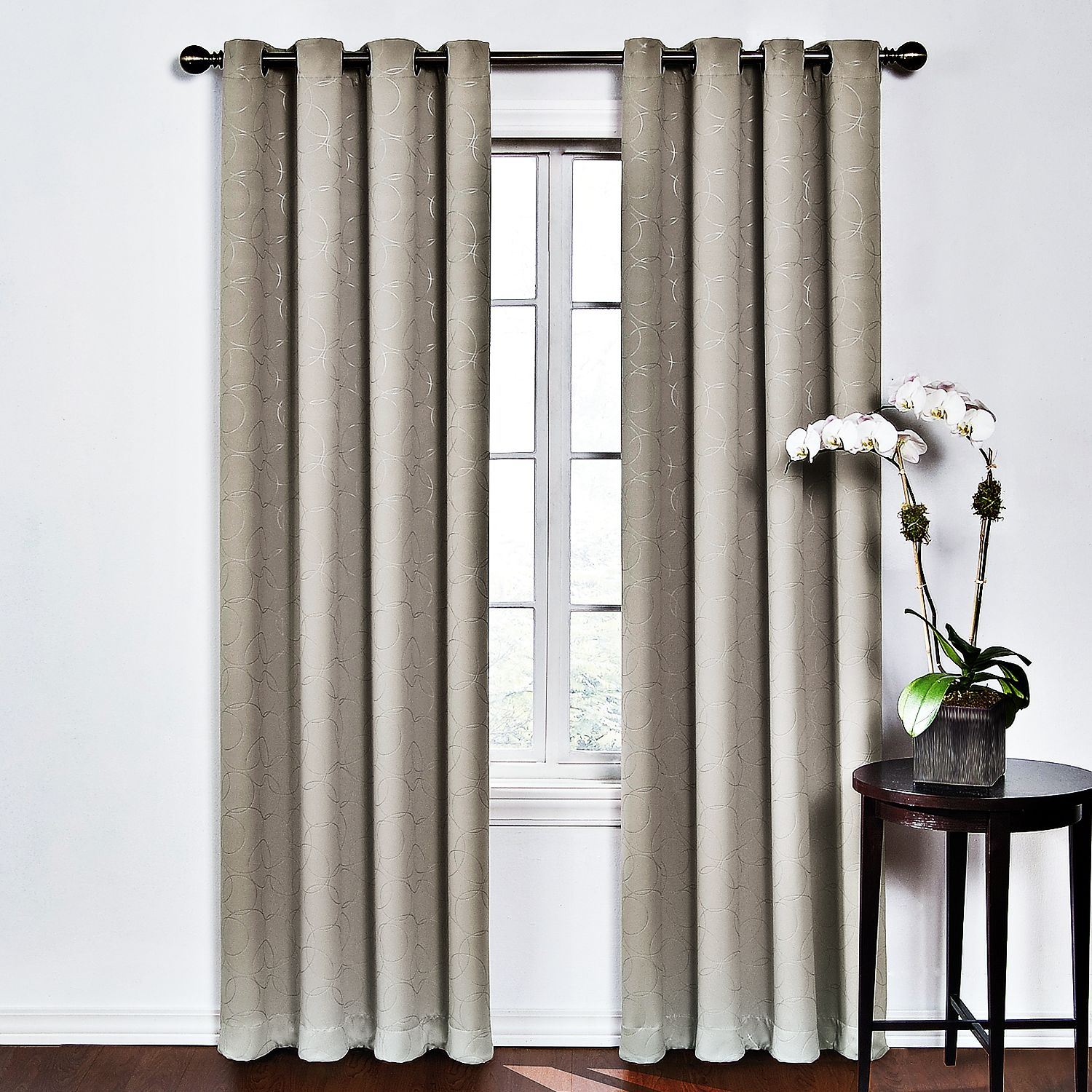 eclipse round u0026 round thermaweave blackout curtain - Blackout Curtain