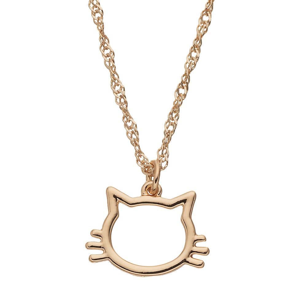 by silver tan sterling product in little cat necklace huiyi huiyitan original