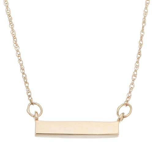 Itsy Bitsy 10k Gold Bar Necklace