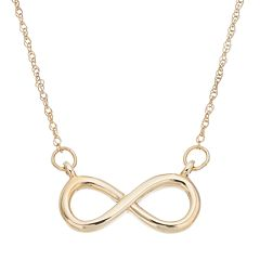 Itsy Bitsy 10k Gold Infinity Necklace
