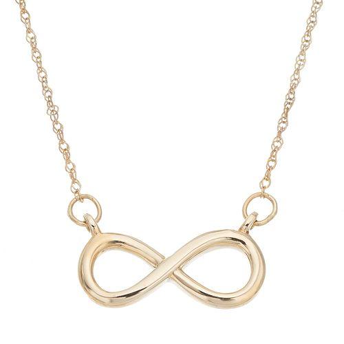 Itsy Bitsy 10k Gold Infinity Necklace