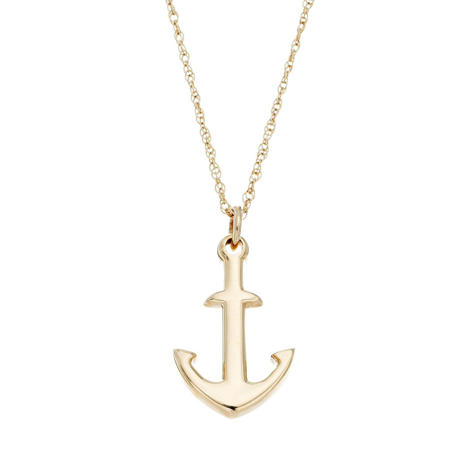 Itsy Bitsy 10k Gold Anchor Pendant Necklace