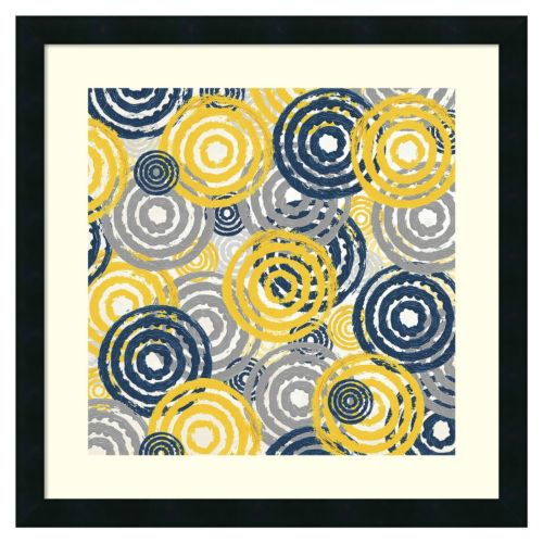 ''New Circles 1'' Framed Wall Art