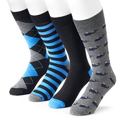 Men's Croft & Barrow 4-pack Whale Dress Socks