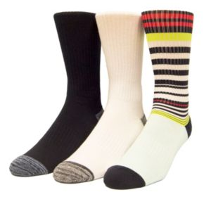 Men's Unionbay 3-pack Patterned Fashion Crew Socks