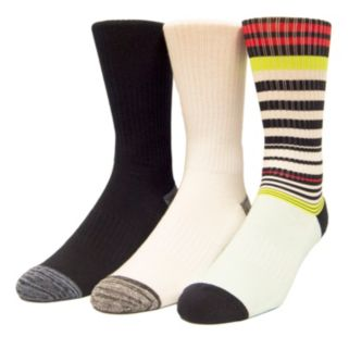Men's Unionbay 3-pack Patterned Fashion Crew Socks