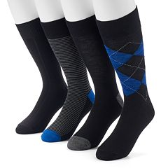 Men's Croft & Barrow® 4-pack Solid & Patterned Socks