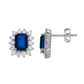 Sophie Miller Cubic Zirconia Halo Stud Earrings