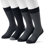 Men's Croft & Barrow® 4-Pack Opticool Patterned Dress Socks