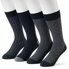 Men's Croft & Barrow® 4-Pack Opticool Patterned Dress Socks