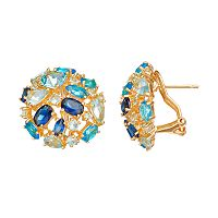 Sophie Miller Simulated Gemstone Stud Earrings