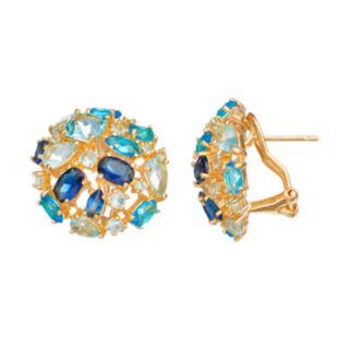 Sophie Miller Simulated Gemstone Stud Earrings