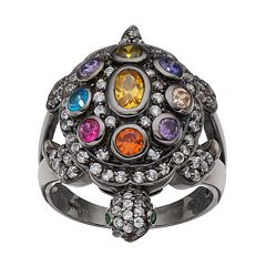 Sophie Miller Sterling Silver Gemstone Turtle Ring