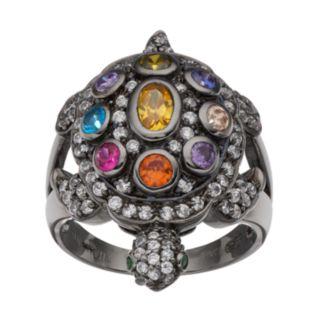 Sophie Miller Sterling Silver Gemstone Turtle Ring
