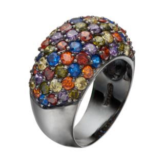 Sophie Miller Lab-Created Blue Spinel & Cubic Zirconia Dome Ring