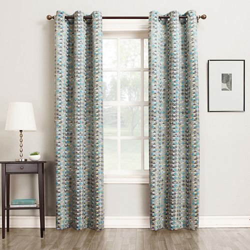 Sun Zero 1-Panel Reva Room Darkening Window Curtain