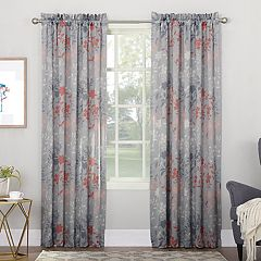 Sun Zero 1-Panel Asbury Room Darkening Window Curtain